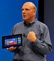 Steve Ballmer with his Surface Tablet